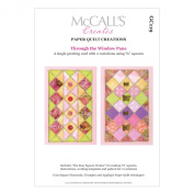 McCall's Creates W10635 Paper Quilt Creations Craft Pattern, Through The Window Pane Greeting Card