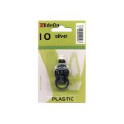 Fix-A-Zipper Size 10 Plastic ZlideOn Zipper Pull Replacements, Silver