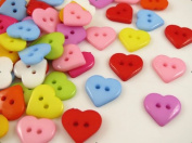 300pcs 10mm the Plastic Heart Button/sewing Lots Mix