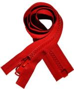 50cm Vislon Zipper ~ YKK #5 Moulded Plastic ~ Separating - 519 Red