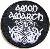 7.6cm x 7.6cm AMON AMARTH Odin Death Music Band Heavy Metal Rock Punk Logo jacket T shirt Patch Iron on Embroidered music patch by Tourlesjours
