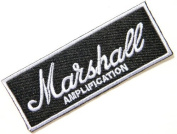8.9cm x 3.2cm Marshall Amplification Amp Logo jacket T-shirt Patch Iron on Embroidered Logo Sign Badge music patch by Tourlesjours