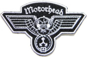 8.9cm x 6.4cm Motorhead Hammered Band Logo Heavy Metal Punk Rock Music Jacket T-shirt Patch Sew Iron on Embroidered Sign Badge music patch by Tourlesjours