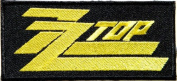 10cm x 5.1cm ZZ TOP Music Band Logo jacket T-shirt Patch Iron on Embroidered Sign Badge music patch by Tourlesjours