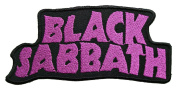11cm x 5.1cm BLACK SABBATH Logo Heavy Metal Rockabilly Rock Punk Music Band jacket T-shirt Patch Iron on Embroidered music patch by Tourlesjours
