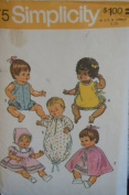 Vintage 1972 Simplicity 41cm Vinyl Doll Clothes Sewing Pattern #5275