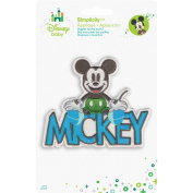 Disney Mickey Mouse Mickey With Name Iron-On Applique-