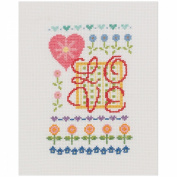 My Quick Stitch Love Mini Counted Cross Stitch Kit-13cm x 18cm 14 Count