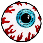 MISHKA EYEBALL SKATEBOARD PATCHES EMBROIDERED # WITH FREE GIFT