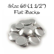 Cover Buttons - 3.8cm (SIZE 60) - FLAT BACKS - QTY 25