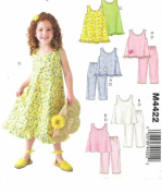 McCall's Patterns M4422. Easy stitch 'n save, Childrens & Girls Tops, Dress, Pants