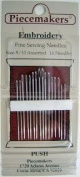 Piecemakers Hand Embroidery Needles Sizes 5-10