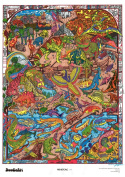The Original DoodleArt Prehistoric Coloring Poster