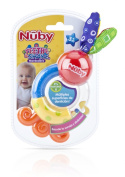 Nuby Teethe and Shake Rattle Teether, 3 Months Plus