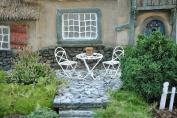 Miniature Fairy Garden Mini Bistro Set, White