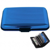 Wallet Credit Card Holder RFID Blocking - Blue