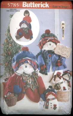Butterick Luv 'N Stuff Snowflake Family (Snowman and Snowlady) Sewing Pattern - 5785