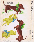McCall's 1810 Vintage Sewing Pattern Betsy McCall's Dog & Kitten