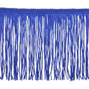 Chainette Fringe P-7044 100-Percent Polyester 10cm Fringe Embellishment, 10-Yard, 04 Royal