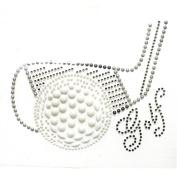 Rhinestone Iron on Transfer Hot Fix Motif Crystal Fashion Design Golf 3 Sheets 5.6* 9.9cm