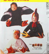OOP McCall's Costume Pattern 8381. Babies Sz 1 Rooster; Duck; & Condor/bird Costumes