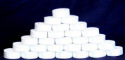 144 White Pre-wound L-Style Plastic Bobbins for Embroidery Machines