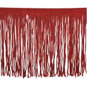 Chainette Fringe P-7044 100-Percent Polyester 10cm Fringe Embellishment, 10-Yard, 22 Red