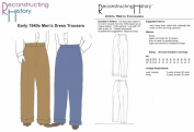 1940's Men's Dress Trousers Pattern