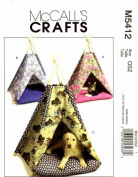 McCall's 5412 Crafts Sewing Pattern Dog Cat Animal Tents