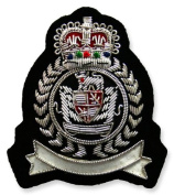 Exclusive-Emblem 'Crown' silver-coloured 2.93x2.57 inch/75x66mm