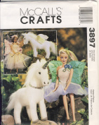 McCall Crafts Sewing Pattern 3897 - Use to Make 29cm Fashion Doll Flower Fairy Clothes, 23cm Stuffed Unicorn and Pegasus