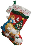 Bucilla 46cm Christmas Stocking Felt Applique Kit, Nativity Baby