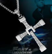 Tanboo Fast and Furious 6 Dominic Toretto's Cross Necklace Pendant Titanium Steel Necklace Men's Jewellery,with Tanboo Card and Gift Box