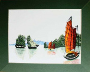 Hand Embroidered Painting - Halong Bay - Made in Vietnam - SEP52