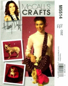McCall's 5514 Crafts Sewing Pattern Hilary Duff Pet Top Harness Leash Bed Carrier