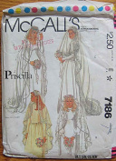McCall's Pattern #7186 - Priscilla Bridal Veils and Headpieces