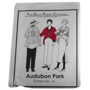 Park Bench Pattern Company Sewing Pattern #14 Audubon Park One Size Fits Most