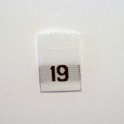 Size 19 (Nineteen) Woven Clothing Size Labels