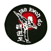 Tae Kwon Do Sidekick Patch - 10cm Dia. - 10 Pack