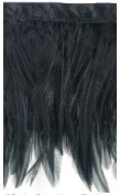 Expo Feather Fringe 10cm Wide 10 Yards-Black