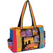 Laurel Burch Fantastic Feline Medium Tote Handbag One Size Multi