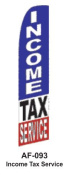 HPP 11-1/2' X 2-1/2' Brand New Advertising Tall Flag- Income Tax Service
