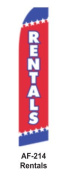 HPP 11-1/2' X 2-1/2' Brand New Advertising Tall Flag- Rentals
