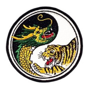 Dragon & Tiger/ Yin & Yang Patch - 10cm Dia. - 10 Pack