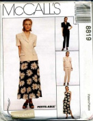 McCall's Sewing Pattern 8819 Misses' Lined Jacket, Lined Dress, Pants & Skirt, Size 18
