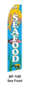 HPP 11-1/2' X 2-1/2' Brand New Advertising Tall Flag- Seafood