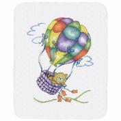 Balloon Cat Quilt Stamped Cross Stitch Kit-90cm x 110cm
