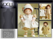 VOGUE DOLL COLLECTION V8277 / 38cm DOLL - SEWING PATTERN DESIGNED BY LINDA CARR / DRESS, JUMPSUIT, HAT, BOOTIES, [RETIRED] UNCUT
