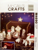 OOP McCalls Crafts Pattern M4690 or 4690. 11 Piece Nativity Collection, Mangers & Storage Box