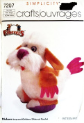 Simplicity 7207 Sewing Crafts Pattern Firffels Dicken Combination Dog and Chicken Size one